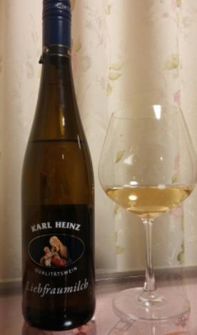 お手軽な軽甘ワイン!聖母の乳・カールハインツ・リープフラウミルヒ