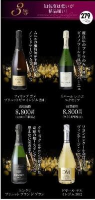 セラー専科 シャンパンくじ