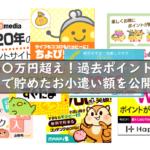 総額〇〇万円超え!過去ポイントサイトで貯めたお小遣い額を公開