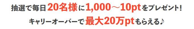 ちょ日新聞の最高獲得ポイントは10万円!