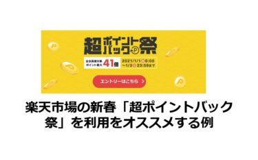 楽天市場の新春「超ポイントバック祭」を利用をオススメする例