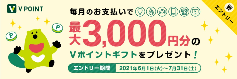 三井住友カードを毎月のお支払いの指定して3,000分のポイントをもらう