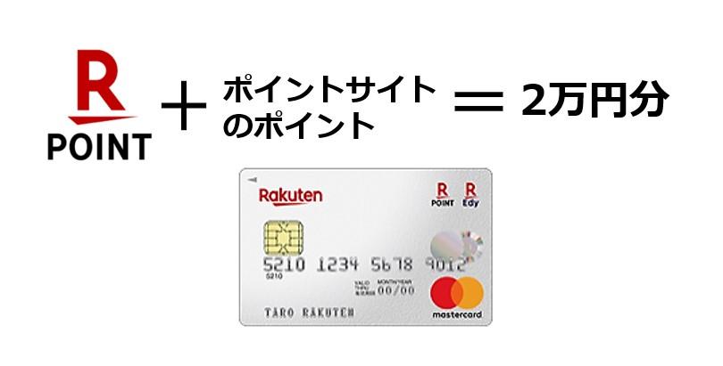 楽天カードの作成だけで20,000円分のポイントがもらえる