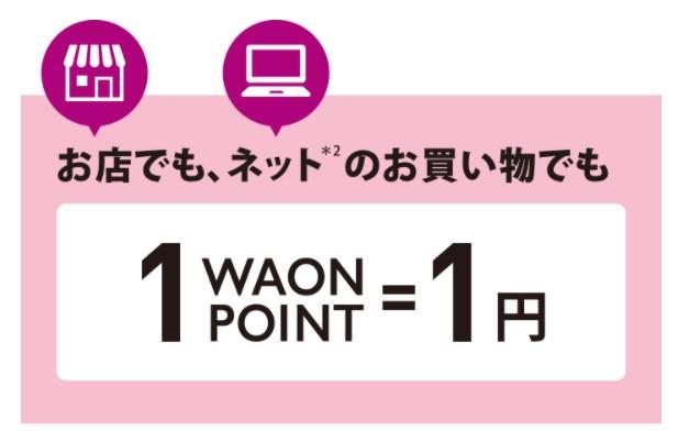 1WAON POINT=1円